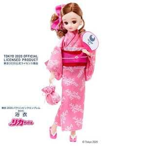 ★リカちゃん浴衣(東京2020パラリンピックエンブレム)♪タカラトミー(TAKARA TOMY◆東京2020パラリンピック競技大会公式浴衣リカちゃんです