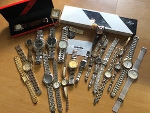 良品多 ジャンク扱い ブランド腕時計 まとめて 大量セット TISSOT HUGO BOSS SECTOR LANCEL renoma CYMA DAKS BENRUS VALENTINO RADOなど