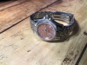 AK1220 美品程度 レア ヴィンテージ TISSOT ティソ SWISS MADE PR100 デイト ブロンズ文字盤 純正ブレス クオーツ レディース 腕時計