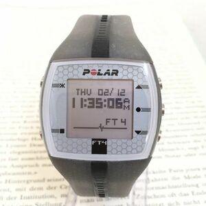 美品★POLAR デジタル 多機能 腕時計★ ポラール グレー スクエア 稼動品 F2750