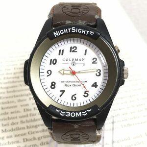 ★ Coleman メンズ 腕時計 ★ コールマン 3針 ブラック 稼動品 F2902