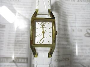 時計 DKNY ダナキャラン 新品 レディース 牛革 未使用 稼働中 ♪