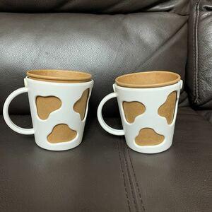 牛柄のカップホルダー2個
