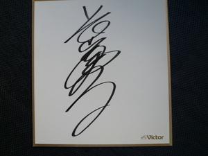 大スター 伝説のアイドルから演歌歌手へ 長山洋子 さん 直筆サイン非売品レコード会社公式公認色紙