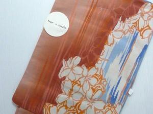 ツモリチサト 仕立上り 女性用 ゆかた オレンジ 青 フリーサイズ 上質 新品 610