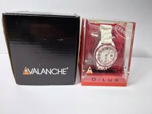 送料無料 美品、電池交換必要☆AVALANCHEの時計☆腕時計☆変えベルト付