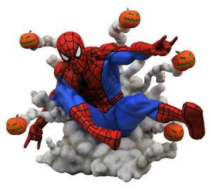 送料無料 日本未発売 マーベル限定スタチュー パンプキン爆弾スパイダーマン Marvel Galleryフィギュ