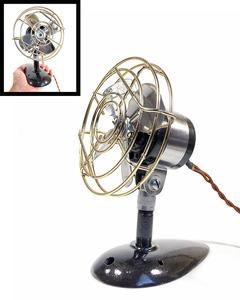 【実働】フルレストア 1940's アンティーク ミニ 扇風機/ビンテージ/デスク/家具/テーブル/モダン/バウハウス/照明/ランプ/gras/o.c.white