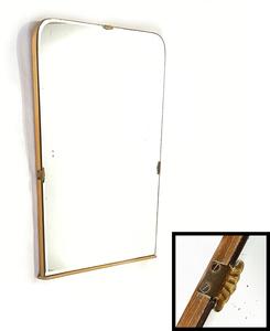1930's アンティーク ミラー/アールデコ/バスルーム/鏡/バウハウス/シャビー/ドアノブ/店舗什器/ビンテージ/ランプ/o.c.white/棚/gras/窓