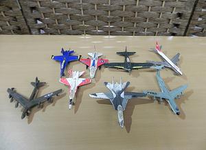 当時物 ジャンク品 マスダヤ ホットウィングス ダイキャスト 飛行機 8機セット ミニ Zylmex 零戦 BOEING TOMCAT ダイカスト