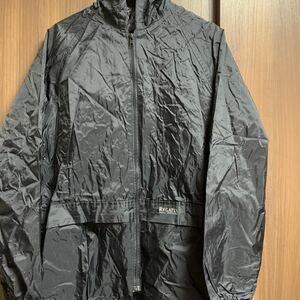 ナイロンジャケット アウトドア ブラック フード