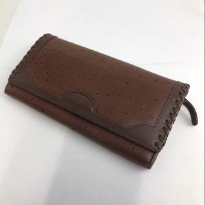 genuine 長財布 レザー ブラウン 茶 レディース メンズ ブランド ウォレット 折財布 小銭入れ 札入れ