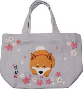 ミニトートバッグ さくらですか 桜 ベージュ お散歩バッグ シバ 柴犬 柴田さん フレンズヒル 新品