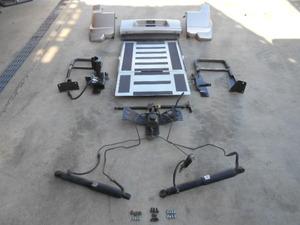 西濃2梱 動画有◆ダイハツ 純正 ムーヴ L150S アルミ リア スロープ スローパー パネル付(T16) 油圧ポンプ付 車椅子 介護 福祉 車輌◆6329P