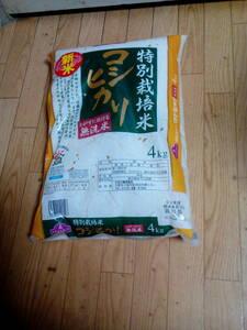 ↑↑ 新米 コシヒカリ 特別栽培米で無洗米 4kg 未開封 ↑↑