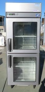 【保証付/中国語可】2012年 サンヨー 業務用2ドア縦型冷蔵庫 冷蔵ショーケース 幅750×奥800×高1950mm 100V SRR-J781V MT2012150944