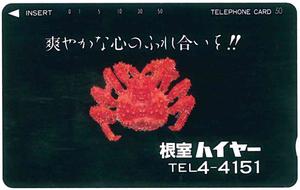 根室ハイヤーテレカ 未使用品 フリー430-0629