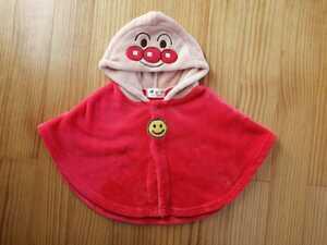 アンパンマン キッズ 子供服 ベビー服 70 80 フード付 フリース ポンチョ 羽織り ルームウェア パジャマ キャラクター