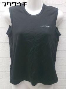 ◇ tricot COMME des GARCONS ロゴプリント AD2000 ノースリーブ Tシャツ カットソー ブラック レディース