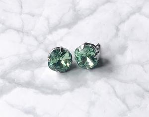 *スワロフスキー*美しいライムグリーンスタッドピアス Swarovski Lime Green Stud Earrings 【AG】新品ギフトボックス入り