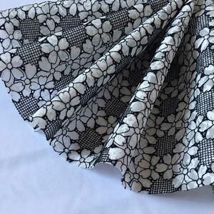 国産高級刺繍レース生地 刺繍レース 花柄 刺繍 二重レース生地 ハギレ