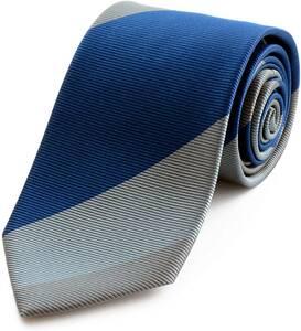 MICHIKO LONDON【ミチコロンドン】新作 ブランドネクタイ 日本製 シルク ジャガード織 織柄 ブロックストライプ