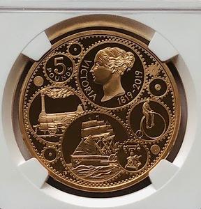 【発行数725枚のみ 最高鑑定 】イギリス 2019 英国 ヴィクトリア女王 生誕200周年記念 5ポンド 金貨 NGC PF70UC ロイヤルミント