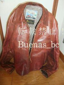 AERO leather HIGHWAYMANハイウェイマン[38]。絶版チェリーレッド。馬革。デットストック 中古