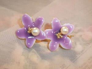 アコヤ真珠付きイヤリング♪コスチュームジュエリーのリメイク☆イヤリングなレディの方に♪やや古くても綺麗♪b93