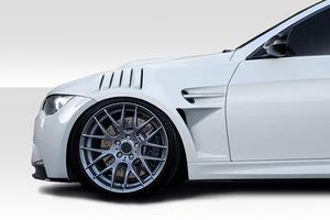 2008-2013 BMW M3 E92 2ドアクーペ Duraflex GTR フロント ダクトフェンダー 左右2点セット エアロ ボディキット FRP製 未塗装