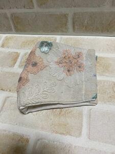 立体インナー花模様刺繍のチュールレース