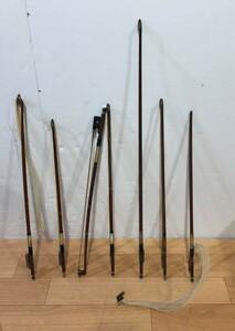 現状品 バイオリンの弓 7本セット 40年以上前購入品