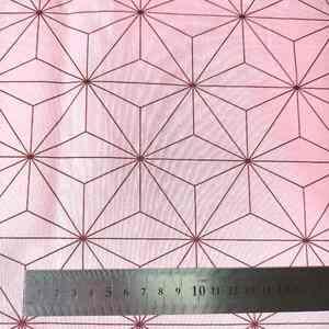 人気の和柄 ピンク麻の葉 鬼滅の刃 ブロード生地 綿100% 100cm×約112cm 送料込み sar004b2