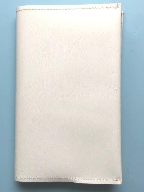 日本製★本革ブックカバー 18.4×32.7cm 新書サイズ ホワイト★新品