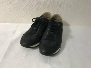 美品本物エルメスHERMESクイックスニーカーシューズ靴ブーツビジネス黒ブラック26.5cmメンズ41
