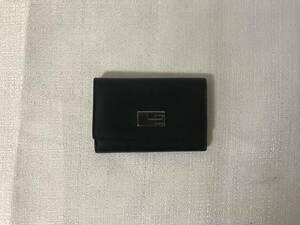 本物グッチGUCCI本革レザーG金具二つ折り6連キーケース鍵キーリング黒ブラックビジネスメンズレディース旅行トラベル