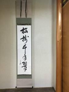 茶道具 軸一行 「松樹千年の翠」 表千家  堀内宗完宗匠