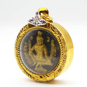 タイ お守り Phra Jatukham Rammathep プラ・ジャトゥカム・ラマテープ 開運 問題解決 プラクルアン 送料無料 #Black