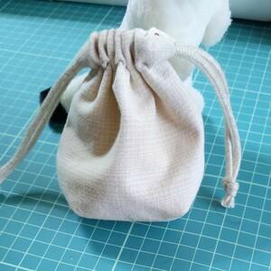 ハンドメイド  マチ付き ミニミニ 巾着袋