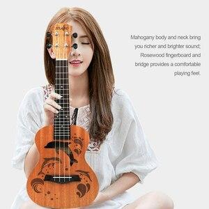 21 インチ プロフェッショナル サペリイルカパターン ウクレレ ギター マホガニーネック チューニング ペグ 4弦 ウッド ギフト