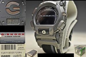 【CASIO カシオ G-SHOCK】nexax ネグザクス 黒 DW-003C-1T クラブバージョン 1997 ダギング モノトーン 説明書付き ケース付き