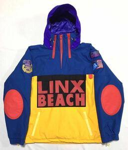 【美品】CL-95 Inc シーエル95 インク LINX BEACH GORE-TEX JACKET リンクスビーチ ゴアテックス マウンテンパーカ メンズL 青 黄 限定