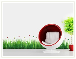 ウォールステッカー ウォールシール 壁紙シール 芝 蝶々 M21『★☆定形外郵便発送 ☆★』