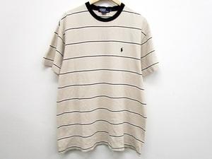 POLO Ralph Lauren ポロ ラルフローレン ロゴ刺繍 半袖 Tシャツ ベージュ メンズ M