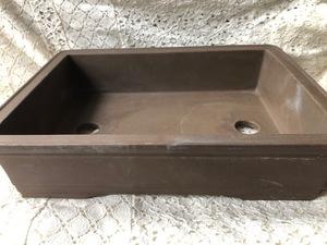 植木鉢 鉢 盆栽 盆栽鉢 ガーデニング 浅型 陶器  長方形 フラワーポット 70