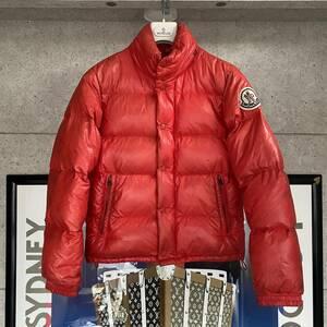 【即決】MONCLER モンクレール EVEREST エヴェレスト エベレスト ダウンジャケット レッド メンズ ビッグワッペン サイズ0