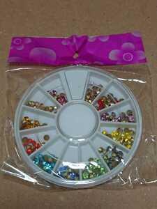 ネイル用品 クリスタルラインストーン 立て爪ダイヤモンド風 12色セット