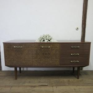 イギリス ビンテージ 家具 サイドボード キャビネット 食器棚 飾り棚 収納 木製 英国 SIDEBOARD 6624b