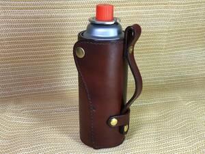 CB缶ホルダー CB缶カバー サドルレザー ハンドメイド ビンテージブラウン
