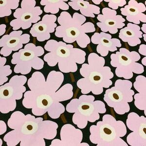 新品★marimekko キャンバス 生地 30×72 ミニウニッコ 帆布 mini unikko 花柄 マリメッコ